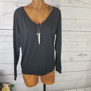 ⚡Pink Victoria's Secret Black Long Sleeve Tee Sm